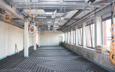 Neubau eines Bürogebäudes mit Versuchshalle
